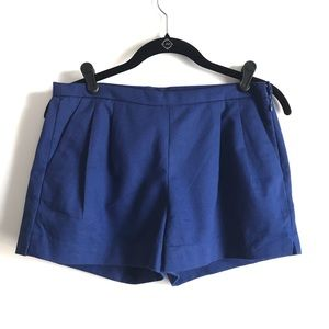 J. Crew Navy Pleated Shorts FLAWED